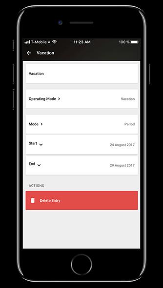 Aplikacja Loxone: tryby działania