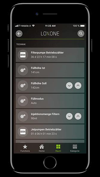 Aplikacja Loxone: licznik czasu pracy