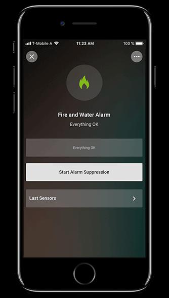 Aplikacja Loxone: alarm pożarowy