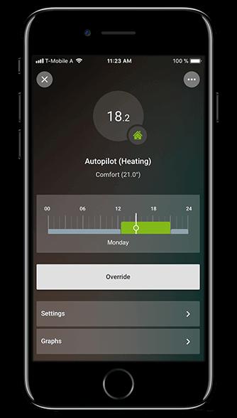 Aplikacja Loxone: automatyczne ogrzewanie
