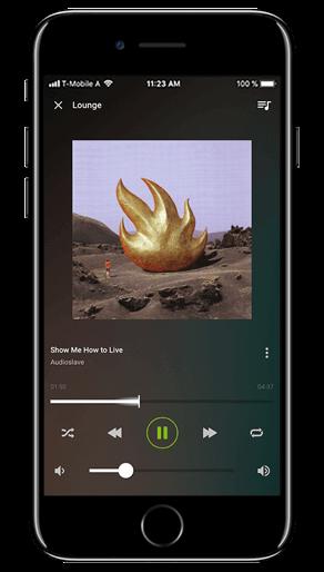 Aplikacja Loxone: odtwarzanie muzyki