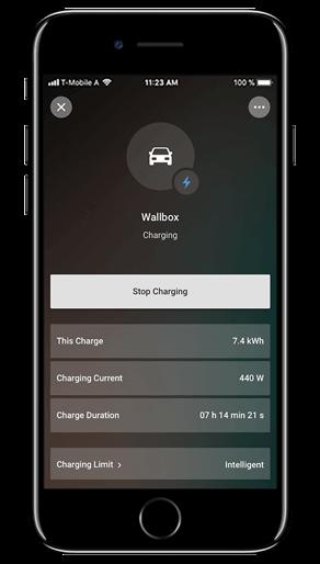 Aplikacja Loxone: ładowarka samochodu elektrycznego