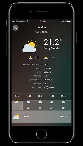 Aplikacja Loxone: prognoza pogody