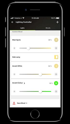 Aplikacja Loxone: sceny świetlne
