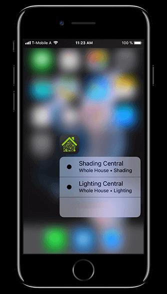 Aplikacja Loxone: szybkie akcje na ekranie telefonu