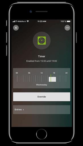 Aplikacja Loxone: czasomierz
