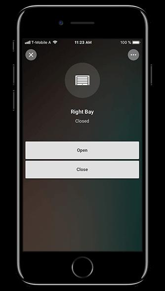 Aplikacja Loxone: brama garażowa