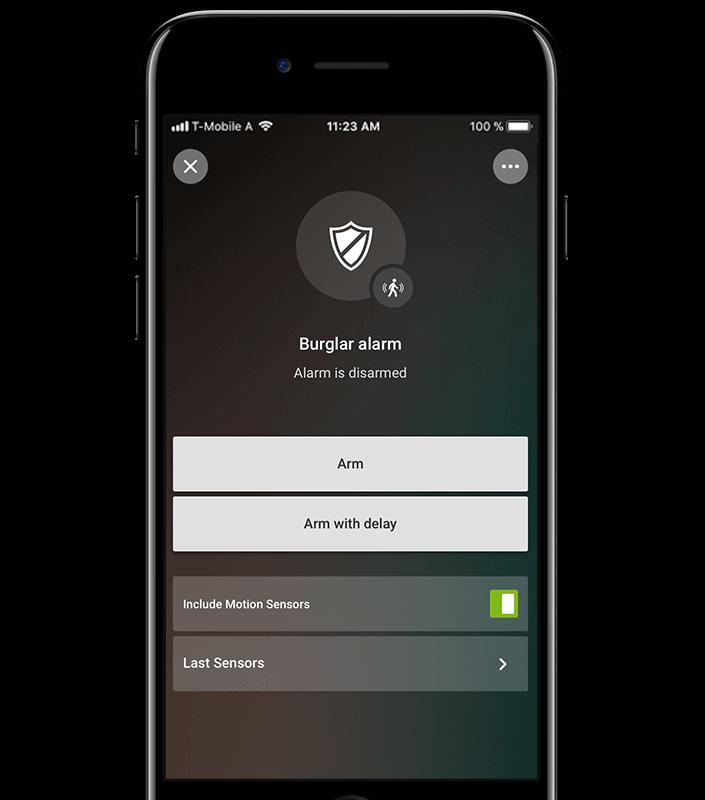 Loxone Smart Home App alarm wyłączony