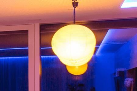 Wiszące lampy papierowe kule