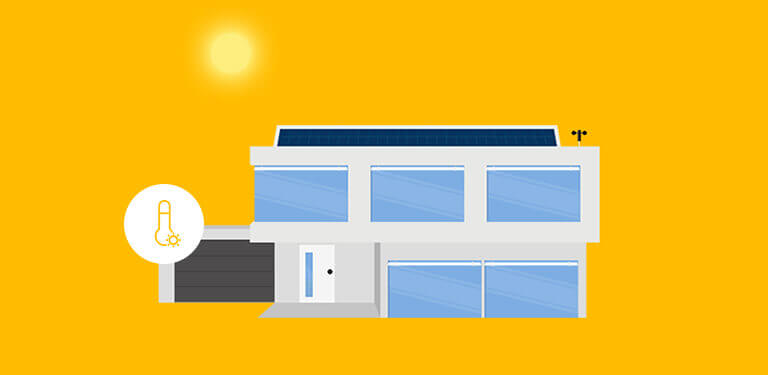 Przykład - ogrzewanie pomieszczenia energią słoneczną.