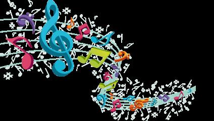 Kolorowe symbole muzyczne