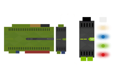 Miniserver podłączony do RGBW 24V Dimmer