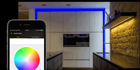 RGBW Farm Lichtwechsler - Stufenlose Farbeinstellung für den LED Streifen