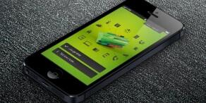 Telefon z włączoną aplikacją Loxone App