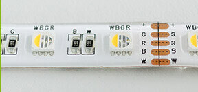 RGBW LED Streifen mit Schutzklasse IP65
