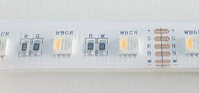 RGBW LED Streifen mit Schutzklasse IP68
