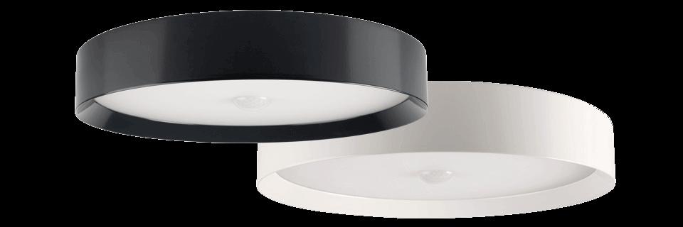 Dwie lampy sufitowe - antracytowa i biała