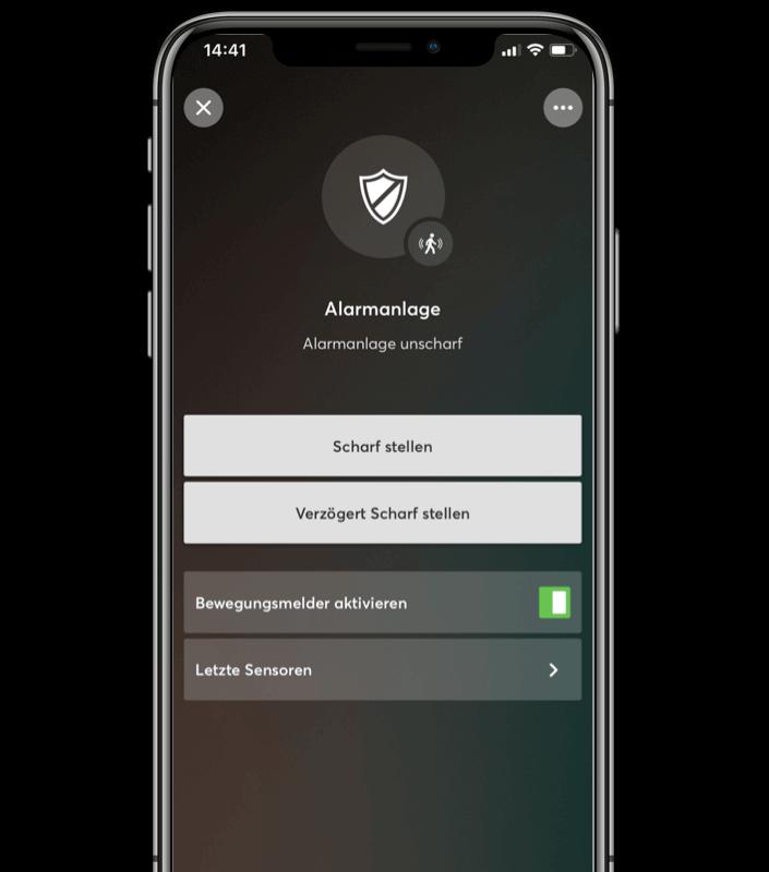 Aplikace v telefonu alarm neaktivní