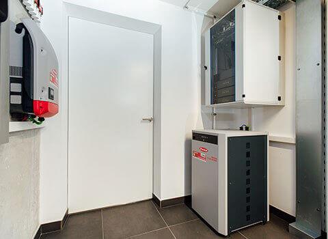 System dostępu w pomieszczeniu technicznym