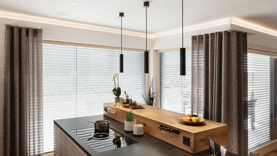 ukázka stínění v interiéru domu