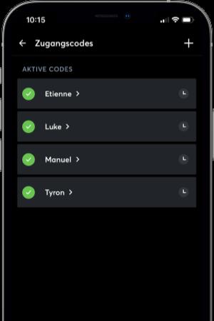 Benutzerverwaltung für die Zutrittskontrolle in Loxone App