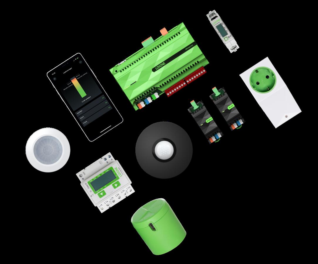 Produkty Loxone do zarządzania energią