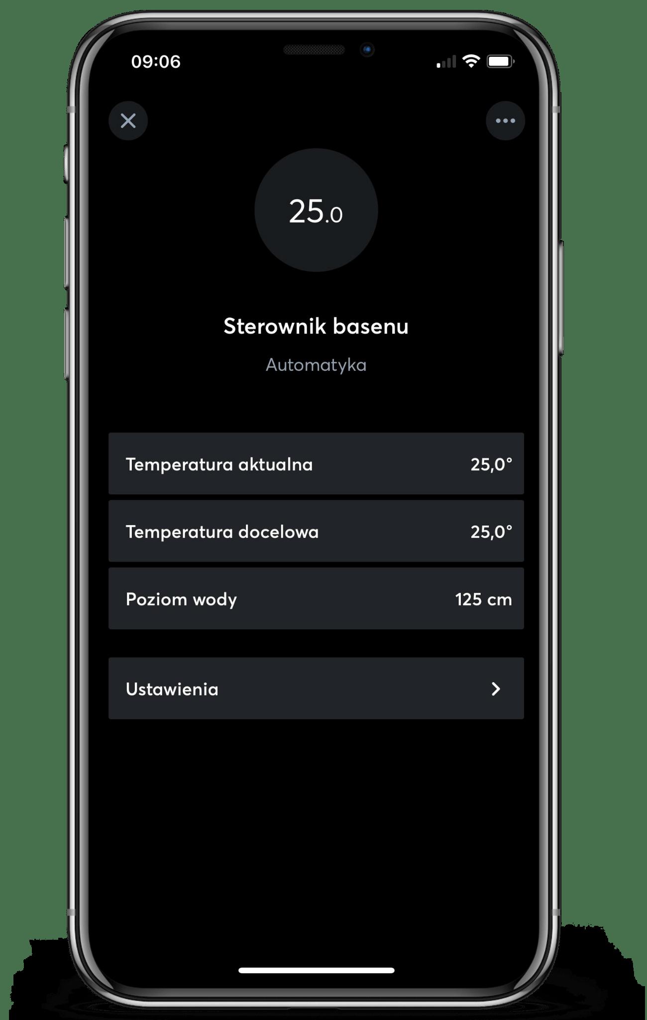Sterownik basenu w aplikacji Loxone