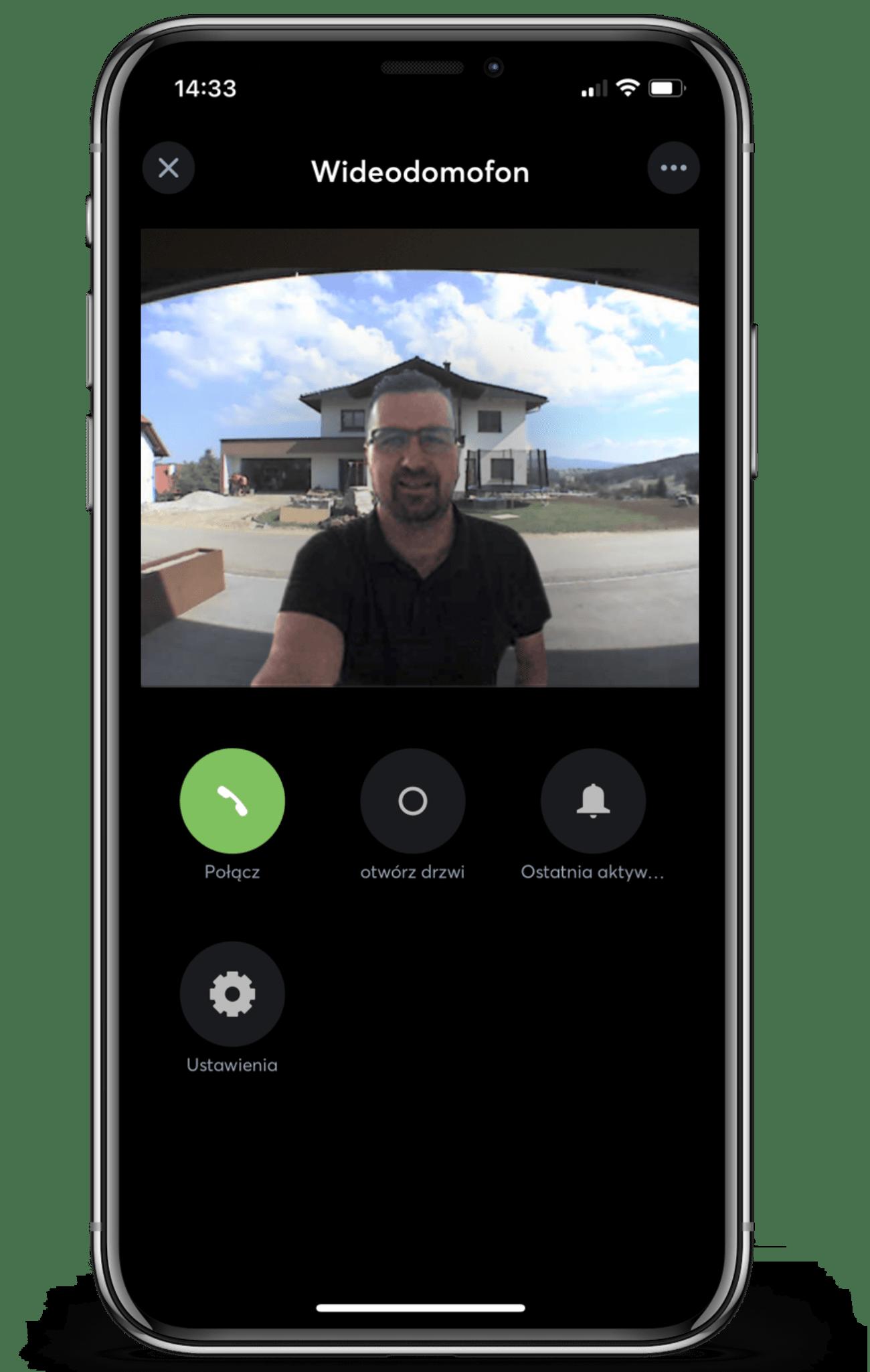 Wideodomofon w aplikacji Loxone