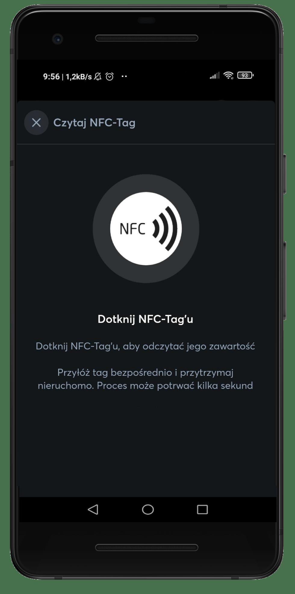 NFC Tag w aplikacji Loxone