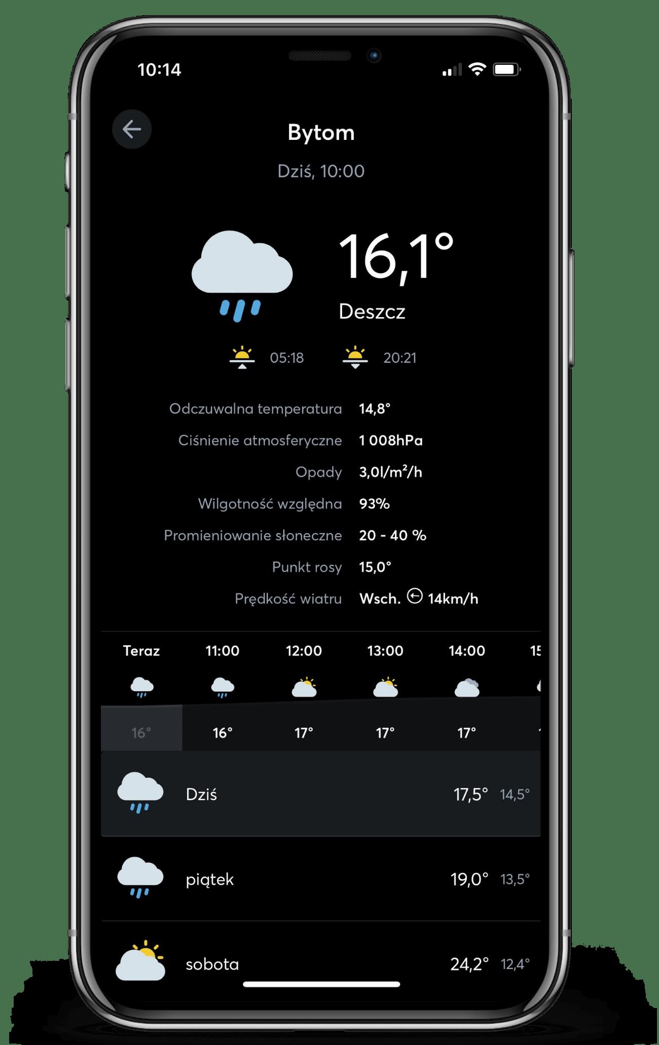 Weather Service w aplikacji Loxone