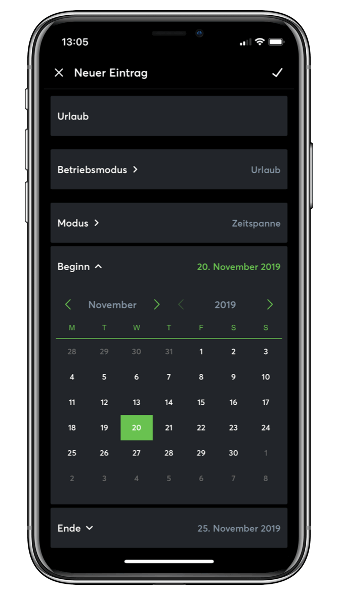 Kalendár pre Užívateľské režimy