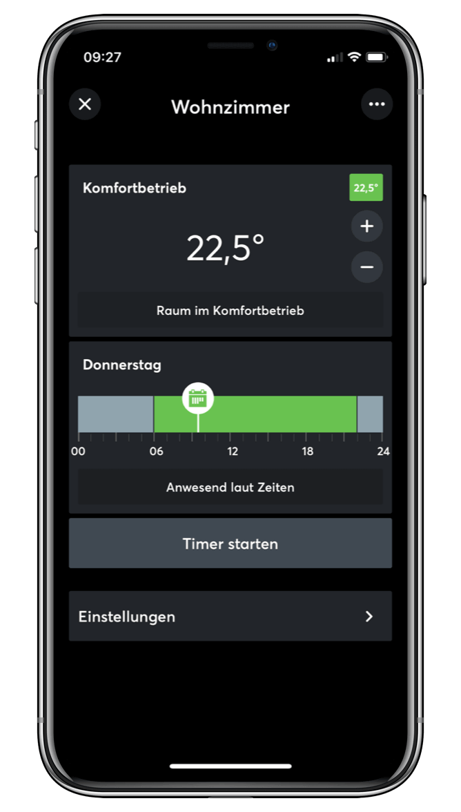 Nastaveniteploty v Loxone App