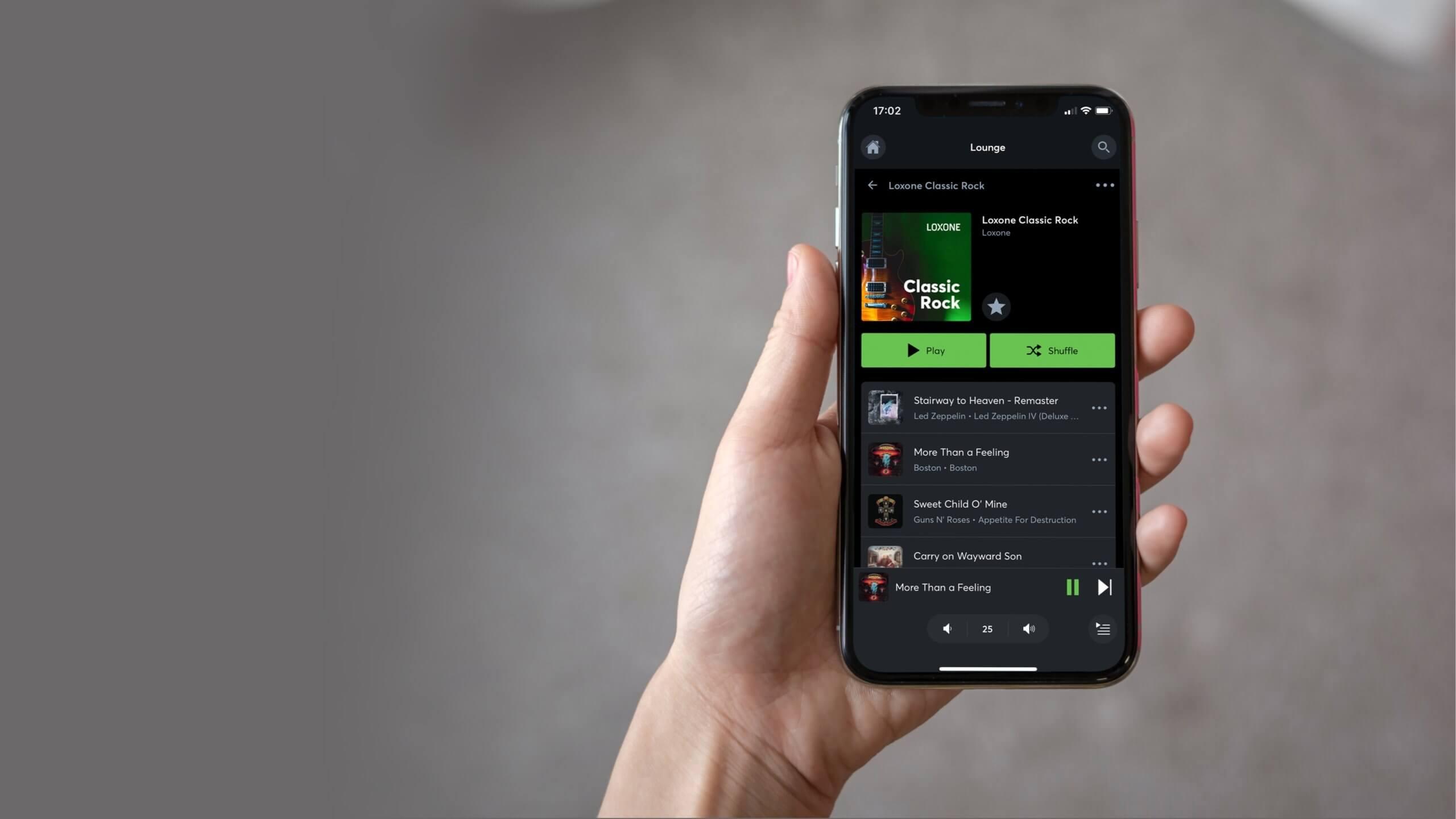 Prehrávanie hudby v aplikácii