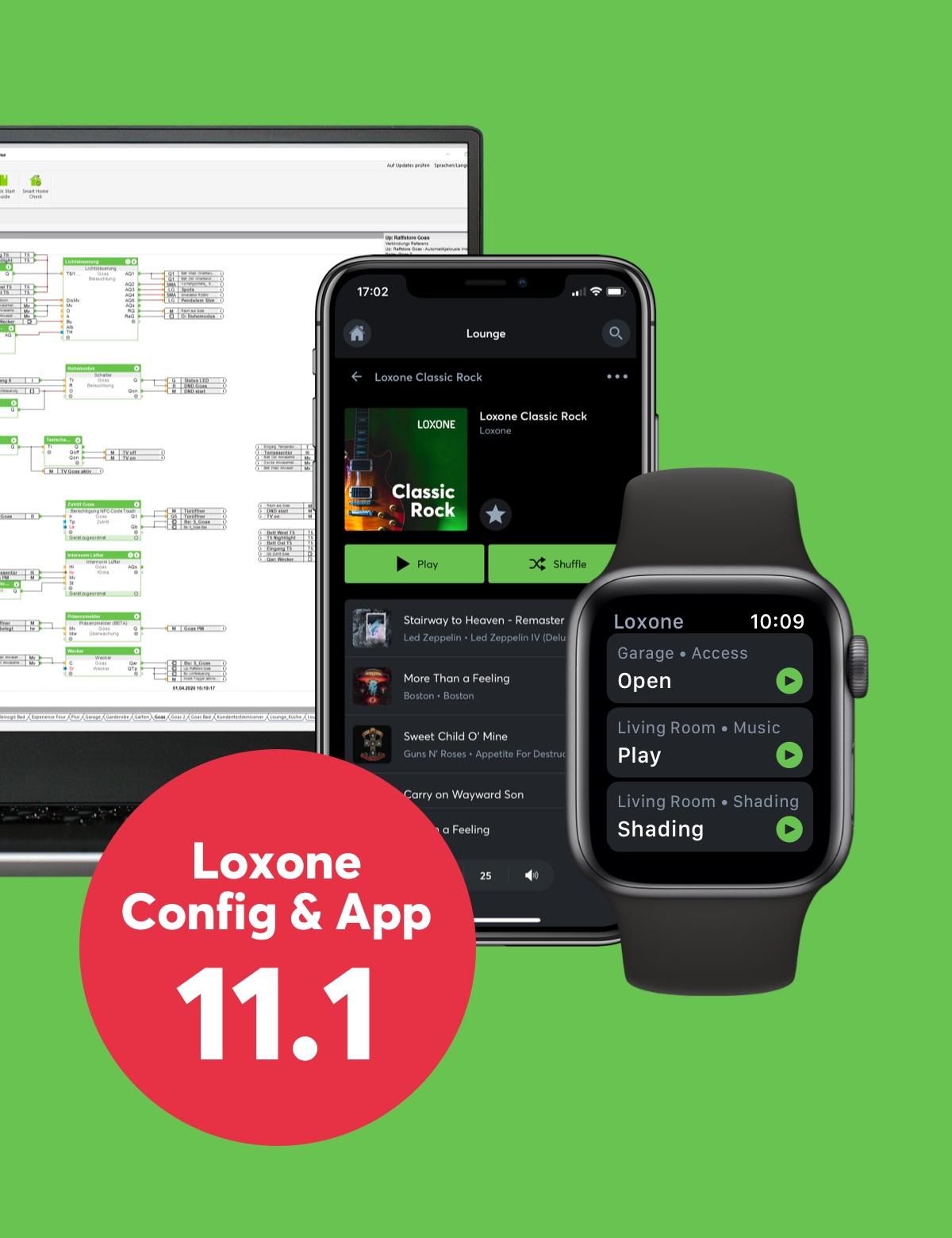 Nová verzia Loxone Config a app 11.1