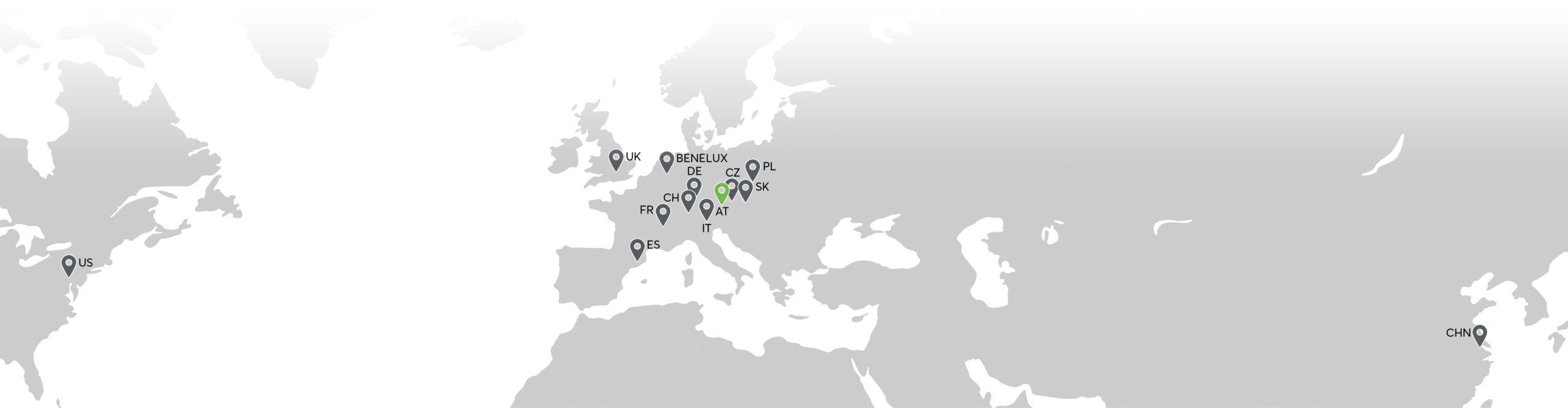Mapa organizácií Loxone