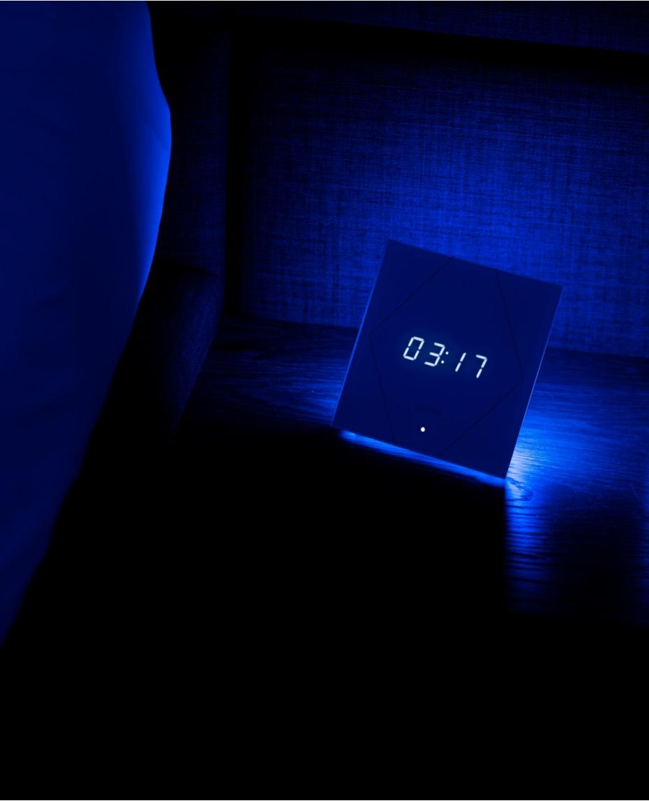 Touch Nightlight s modrým osvetlením