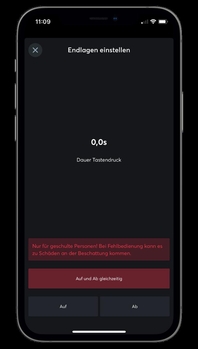 Nastavenie koncových polôh v Loxone App