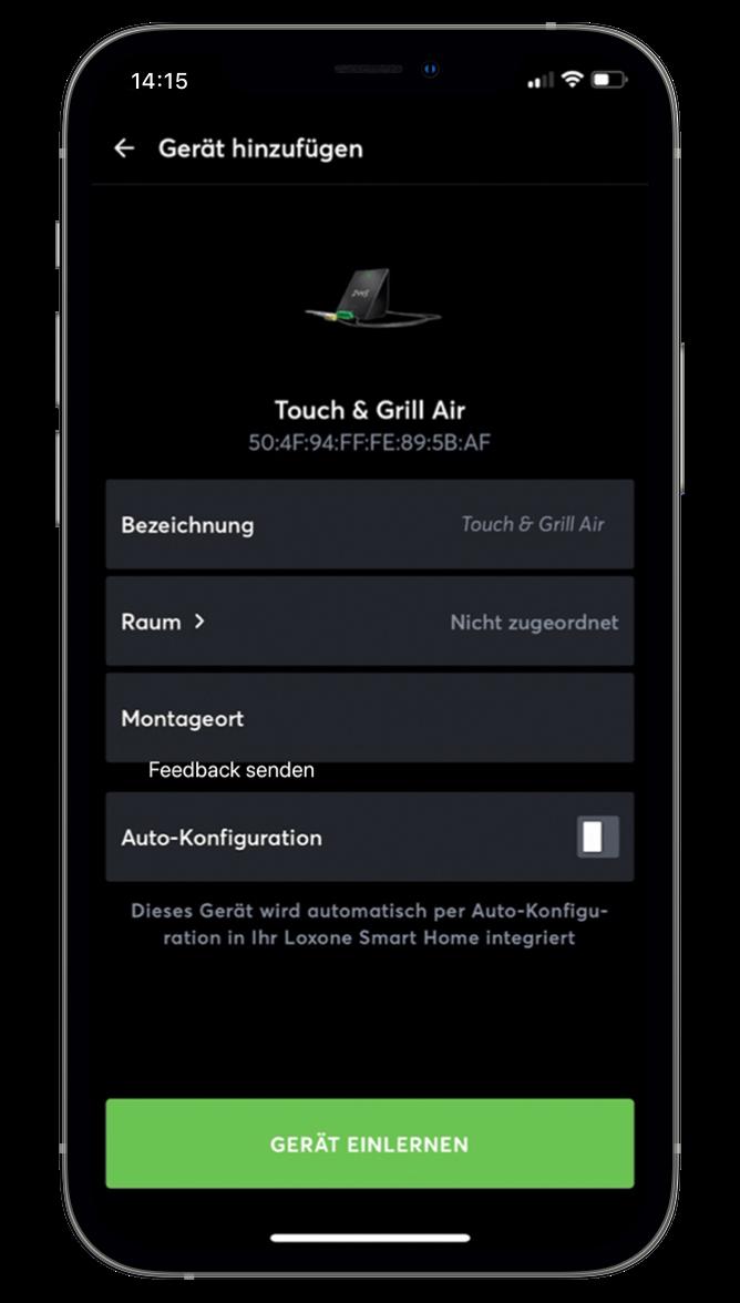 Učenie zariadení Tree a Air v Loxone App