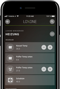 Loxone aplikácia