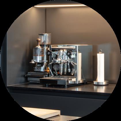 Pohľad na kávovar